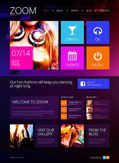Template 46026 - Night Club Responsive WordPress Theme