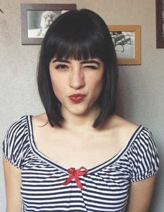Short Straight Hairstyles with Bangs | http://www.short-haircut.com/short-straight-hairstyles-with-bangs.html