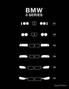 Bmw 3 Series Heritage, 1975-Present day (E21, E30, E36, E46, E90, F30), great reference regardless
