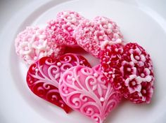 ~ Heart Soap ~ I'd put them in a small apothacary jar to keep them from getting dusty....