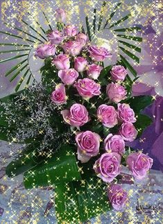 Bouquet of Pink Roses Good Morning Beautiful Quotes, Good Morning Picture, Flowers Gif, Love Flowers, Beautiful Flowers Wallpapers, Beautiful Roses, Happy Name Day, Romantic Gif, Unusual Flowers