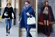 Capas, la prenda indispensable del invierno  Con piel, lisa o en su versión más majestuosa, Olivia Palermo la lleva en todas sus versiones.