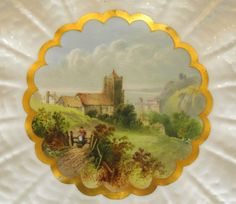 Rare Coalport Porcelain Hand Painted Hastings Scene Cabinet Plate   eBay