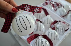 DIY Farmhouse Rae Dunn Inspired Christmas Ornaments – Hip2Save