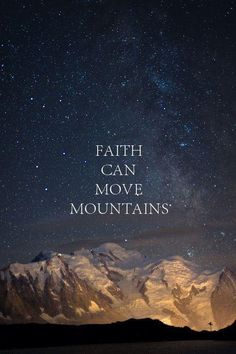 If you have faith as small as a mustard seed, it could move mountains!