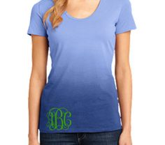Bridesmaid Gift  Monogrammed Tees  Ombre  by ShelbysBoutiques