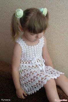 AS RECEITAS DE CROCHÊ: Vestido de Croche para menina