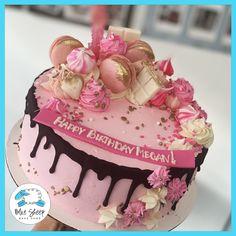 White Birthday Cakes, Ice Cream Birthday Cake, Elegant Birthday Cakes, Birthday Cakes For Women, Happy Birthday Cakes, Elegant Cakes, Pretty Cakes, Beautiful Cakes, Cookies And Cream Cake
