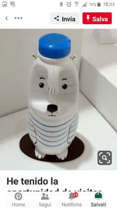 Recycled Bottles, Recycled Crafts, Diy And Crafts, Plastic Bottle Crafts, Recycle Plastic Bottles, Bleach Bottle, Easy Art Projects, Pet Bottle, Plastic Animals