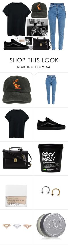 """""""four faces"""" by velvet-ears ❤ liked on Polyvore featuring Vetements, Vans, Yves Saint Laurent, NARS Cosmetics and TokyoMilk"""