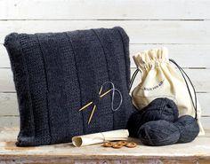 Knithitkit: Vinkkinurkka, Stripes -tyyny