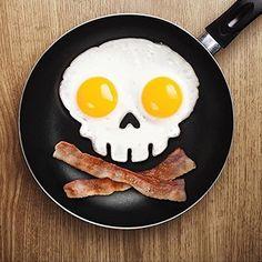 Skull Silicone Egg Art Mould