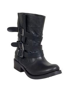 Miz Mooz Clang Leather Moto Boot in Black