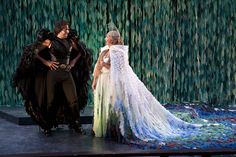 Elijah Alexander (left) as Oberon and Kymberly Mellen as Titania in the Utah Shakespeare Festival's 2011 production of A Midsummer Night's Dream. (Copyright Utah Shakespeare Festival. Photo by Karl Hugh.)
