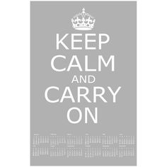 SALE  Keep Calm and Carry On  11 x 17  Poster Size 2012 by Tessyla, $19.50