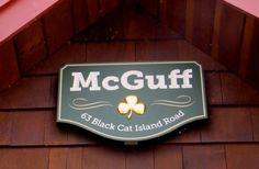 McGuff House Sign on site / Danthonia Designs