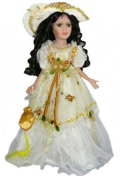 Victorian Porcelain Doll-Stunning Victorian doll-Porcelain Victorian Doll-Gabriella