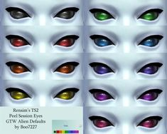 Default GTW Alien Eyes by pentabet at Mod The Sims