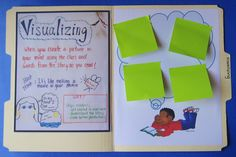 Using file folders as mini-anchor charts; great for differentiated learning and guided reading groups