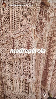 Vanessa Montoro, Crochet Dresses, Crochet Tops, Crochet Chart, Crochet Cardigan, Finding Yourself, Beige, Fresh, Knitting