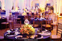 Festa Azul Marinho e Rosa Nude no Desterro - Casamento de Carol e Junior