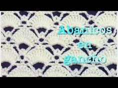 Puntada de abanicos grandes y elegantes en gancho #67 - YouTube Crochet Cardigan, Baby Blanket Crochet, Crochet Lace, Crotchet Stitches, Stitch Patterns, Crochet Patterns, Yarn Bombing, Sewing Box, Costumes