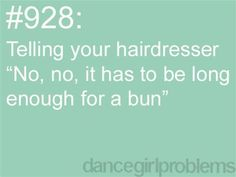 I actually did this a couple months ago and she's like a low bun or what? And I'm like all I want is long enough for a ballet bun. All About Dance, Just Dance, Will Turner, Waltz Dance, Ballroom Dance, Dance Art, Ballet Quotes, Dance Memes, Choir Memes
