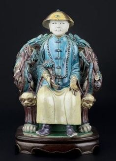 Chinese Bisque porcelain figurine of a Prince - ca 1800 - 1850 How To Speak Chinese, Chinese Ceramics, Copper And Brass, Ancient China, Chinese Antiques, Chinoiserie, Color Schemes, Oriental, Miniatures