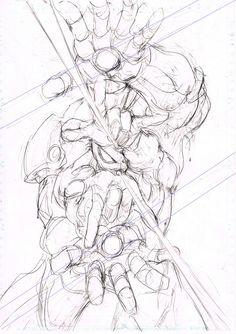 村田雄介 (@NEBU_KURO) | Twitter One Punch Man, Pencil Art, Composition, Iron Man, Spiderman, Comic Art, Naruto, Marvel, Geek Stuff