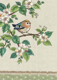 Browse our ranges and shop online for decorative everyday designs and Christmas cards. Freehand Machine Embroidery, Free Motion Embroidery, Embroidery Applique, Embroidery Patterns, Paper Birds, Fabric Birds, Fabric Art, Fabric Flowers, Greeting Cards Uk