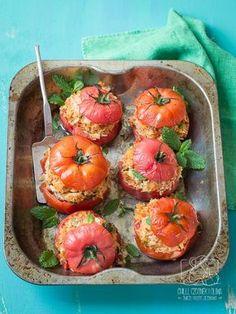 Pomidory faszerowane ryżem i tuńczykiem / blog Chilli, Czosnek i Oliwa