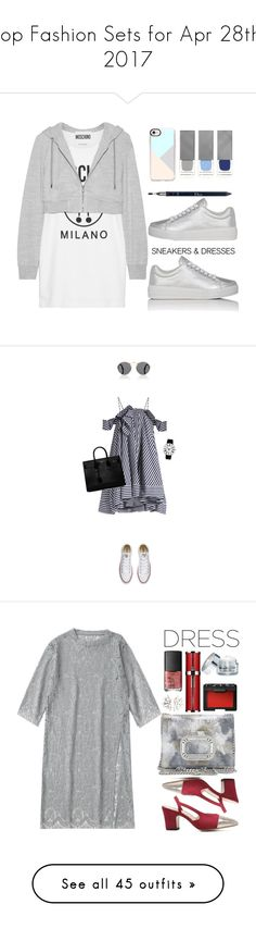"""Top Fashion Sets for Apr 28th, 2017"" by polyvore ❤ liked on Polyvore featuring Moschino, Prada Sport, Casetify, Burberry, Christian Dior, WhatToWear, polyvoreeditorial, polyvorestyle, SNEAKERSANDDRESSES and Prada"