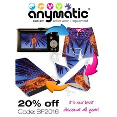 Best deal of the season 20% off all sites! Create a custom yoga mat for the person who has everything ! Offer ends Monday ! Code: BF2016 #custom# anymatic#shortomatic#yogamatic#kinimatic