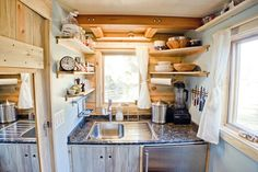 Fully functional kitchen in tiny house