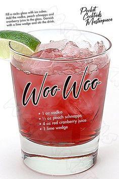 Liquor Drinks, Cocktail Drinks, Cocktail Recipes, Beverages, Vodka Drinks, Fun Cocktails, Martinis, Bartender Drinks, Pink Drinks