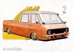 Car Car, Cars And Motorcycles, Volkswagen, Surfing, Custom Design, Van, Trucks, Concept, Vehicles