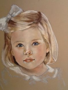 Oil Pastel Colours, Soft Pastel Art, Pastel Drawing, Colored Pencil Artwork, Color Pencil Art, Doll Painting, Sketch Painting, Pastel Portraits, Art Drawings Sketches