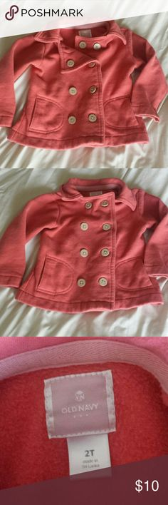 Old Navy coral color pea coat size 2T Girls Old Navy coral color pea coat size 2T Old Navy Jackets & Coats Pea Coats