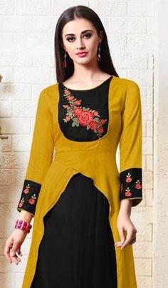 New stylish and trendy kurti neck designs - ArtsyCraftsyDad Trendy Kurti, Shrug For Dresses, Wrap Dresses, Kurti Neck Designs, Fancy Sarees, Classy Dress, Stylish Dresses, Couture Fashion, Cotton Dresses