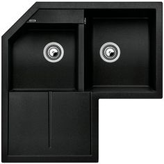 Black Corner Kitchen Sink : ... Corner Sinks In Kitchens Undermount Corner Kitchen Black Granite