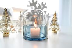 Trees of gold and lovely blue Perfect combination   #AYTM Tota candle holder  Photo: tipsshopno