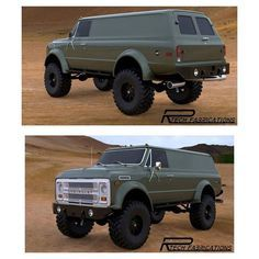 """1970 K50 Chevy Panel Truck - """"The Patriot"""". Another beastly build by Rtech Fabrications."""
