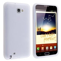 Silicone Skin Case for Samsung© Galaxy Note N7000, White