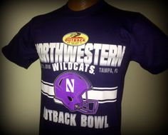 NORTHWESTERN WILDCATS 2016 OUTBACK BOWL TSHIRT HELD IN TAMPA FLORIDA ADULT SMALL #adidas #NorthwesternWildcats