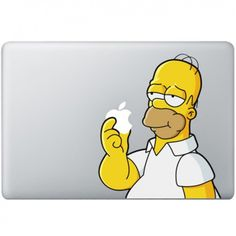 """<p class=""""p1""""><span class=""""s1"""">Homer Simpson will never go out of fashion with his witty comebacks. This time he'll try to eat your Apple icon. Of course he will never succeed. The only one who will succeed will be you showing your awesome MacBook decal off to your friends. They will wish they had one of their own. This decal is produced from the best quality vinyl and comes with a transferfilm and manual. Because of it's high quality it lasts up to 5 years.</span></p>"""