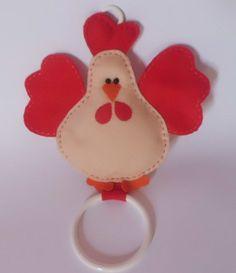 Os moldes de galinhas mais fofos em feltro!