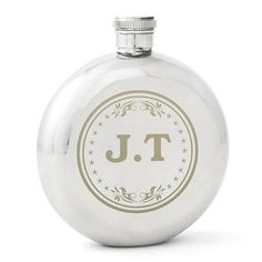 Personalised Monogram Round Hipflask from Personalised Gifts Shop - ONLY Personalised Hip Flask, Personalised Gifts For Him, Wedding Hip Flasks, 11th Wedding Anniversary, Usher Gifts, Christmas Stocking Fillers, Christmas Gifts, Gifts For Wedding Party, Party Gifts
