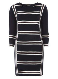 Navy and Ivory Stripe Tunic - Dorothy Perkins