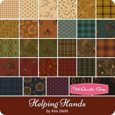 Helping Hands Fat Quarter Bundle by Kim Diehl for Henry Glass Fabrics - December 2017