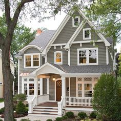 Love this home! Inspiration for our new home build! Credit: JB Architecture Group Inc #houseinspo#buildit#shinglehouse#welcomehome#curbappeal#yvr#design#architecture#build#exteriors#home#design#house#details#trim#porch#shinglestyle#inspiration#homeinspiration#shingle#thebest#houzz
